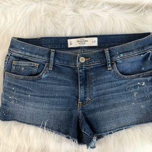 Abercrombie &Finch cut off jean shorts